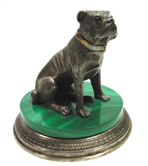 russian pug antique early 20thc russian faberge 88 sterling silver malachite pug statue ebay