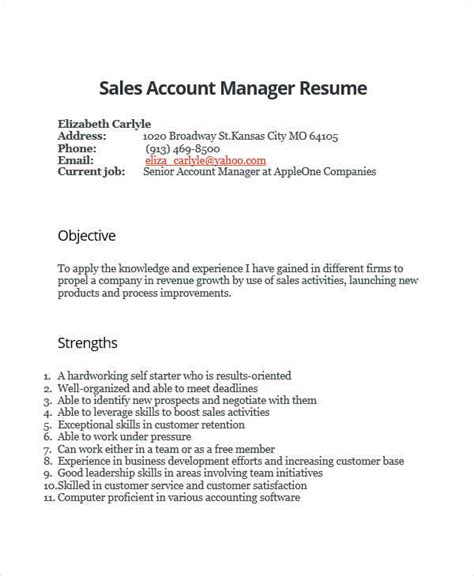 36 manager resumes in word