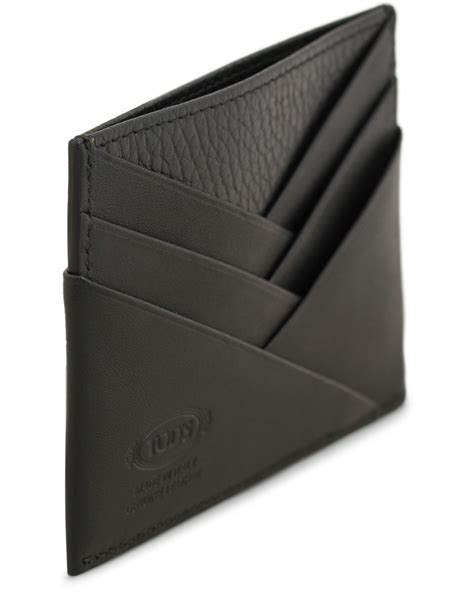Origami Credit Card Holder - tod s origami credit card holder black calf hos careofcarl