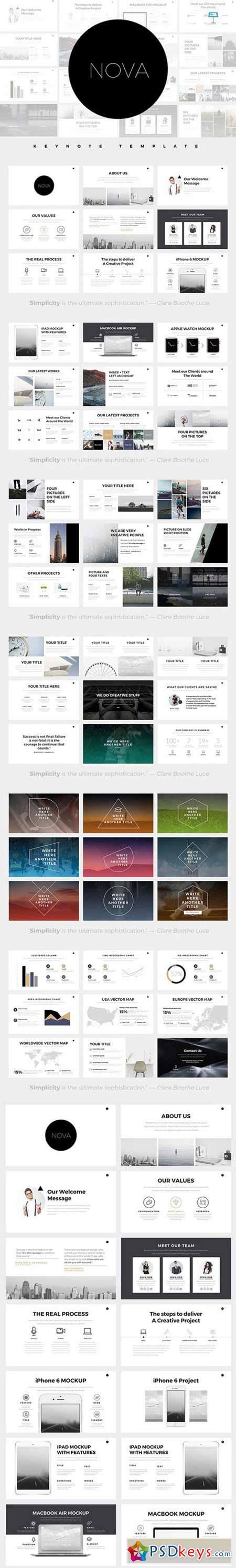 Nova Minimal Keynote Template 597505 187 Free Download Photoshop Vector Stock Image Via Torrent Free Minimal Keynote Template