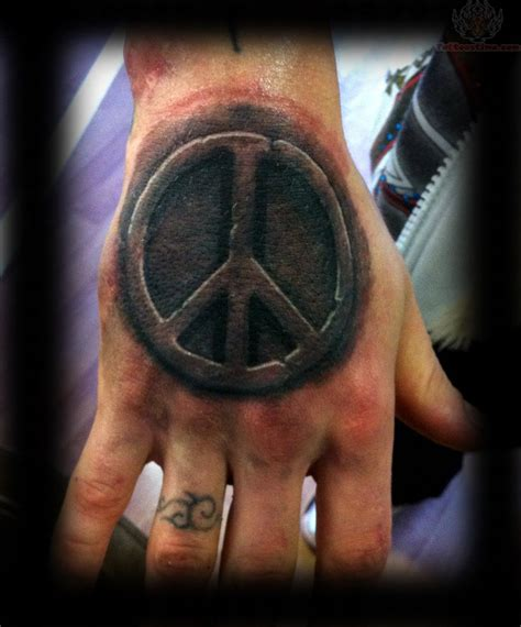 peace tattoo 3d peace sign on
