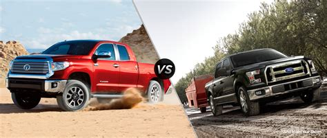 Ford Truck Vs Toyota Tundra 2016 Toyota Tundra Vs 2016 Ford F 150 Cox Toyota