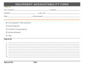 accountability log template best photos of employee equipment issue form employee