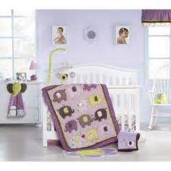 Elephant Crib Bedding Set Purple Green And Brown Elephants Nursery Ideas Nurseries Nursery
