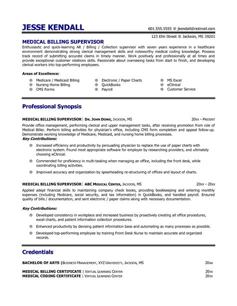billing and coding resume exle slebusinessresume slebusinessresume