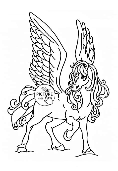 coloring pages animals horses flying coloring page for animal coloring pages