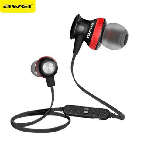Awei Earphone Headset Bluetooth Sport Wireless With Microphone Murah awei a980bl auriculares bluetooth earphone wireless