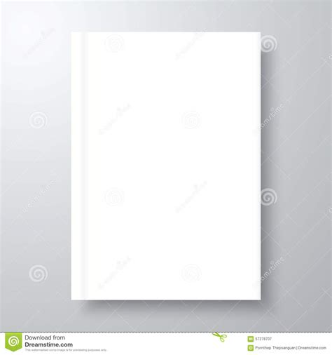 blank empty book mockup stock vector image of cover