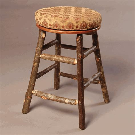 hickory bar stools black forest backless swivel hickory bar stool