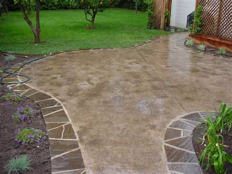 backyard cement designs 17 best images about patio ideas on pinterest pinterest
