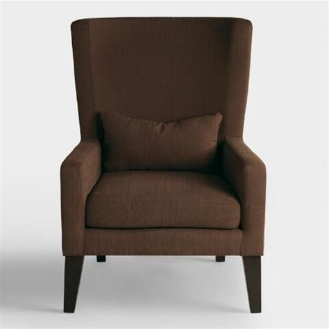 Haigh Chair Cocholatte 039 chocolate brown triton high back chair world market
