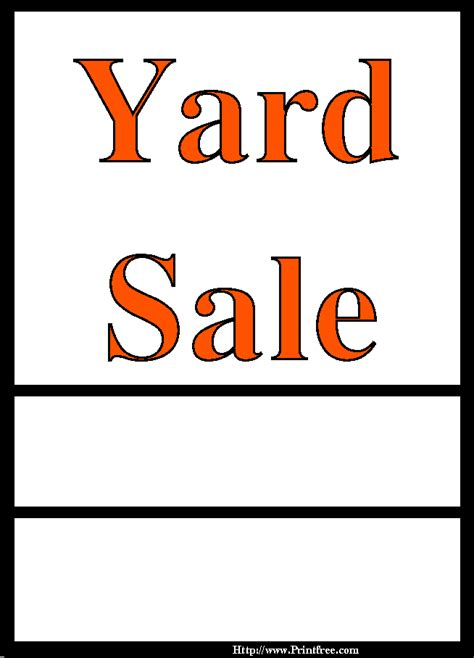 pictures of yard sales cliparts co