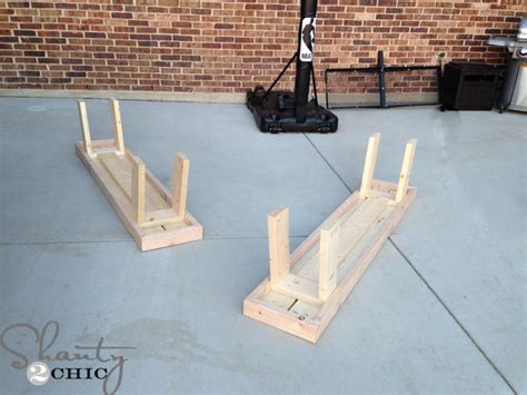 legs for benches diy outdoor benches for my table shanty 2 chic