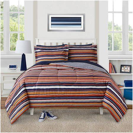 Orange And Navy Bedding by Better Homes And Gardens Orange Navy Stripes