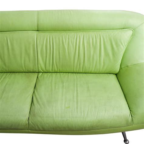 mint green leather sofa 86 off italian mint green leather two cushion sofa sofas