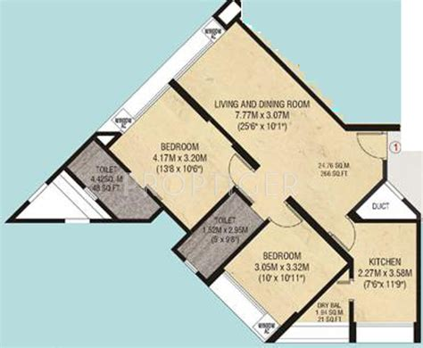 975 Sq Ft 2 Bhk 2t Apartment For Sale In Godrej Properties 975 Sq Ft 2 Bhk 2t Apartment For Sale In Charms India