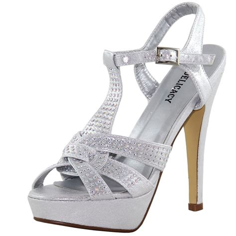 new s shoes rhinestones stilettos open toe silver
