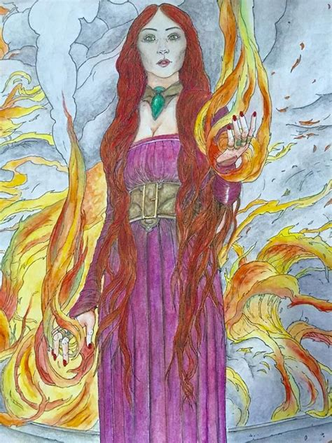 thrones coloring book finished melisandre of thrones coloring book