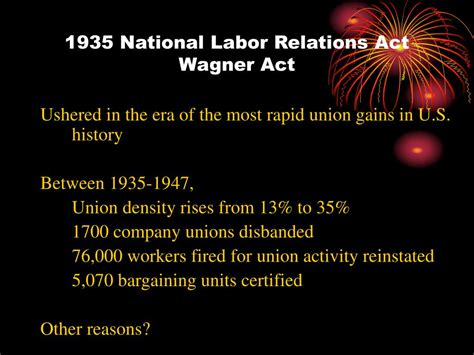 section 7 national labor relations act ppt history of collective bargaining in the united