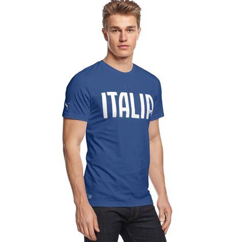 Tshirt Italia figc italia graphic tshirt in blue for lyst