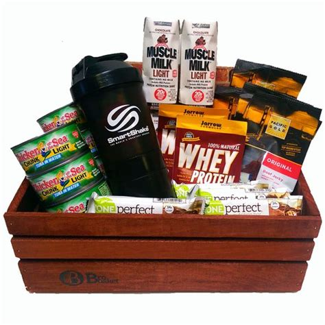 protein gift basket the health nut crossfit gift health protein and baskets