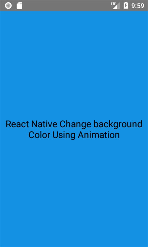 android animate layout height change react native change background color using animation in