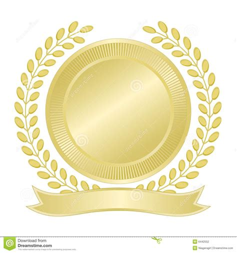 blank seal template blank gold seal stock vector image of seal wreath