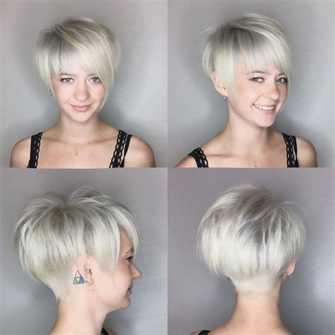 platnium highlights very very short pixie salt and pepper pixie haircut platinum blonde by leahfittsbeautydesign