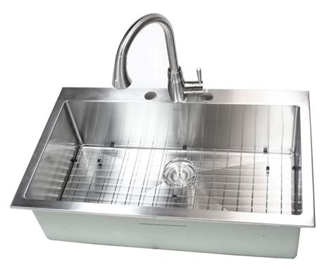 36 Inch Top Mount Drop In Stainless Steel Single Bowl Single Bowl Kitchen Sink Top Mount