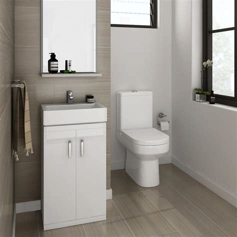 cloak room cloakroom suite floor standing basin unit coupled toilet at plumbing uk