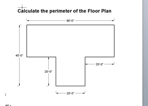 how to calculate perimeter calculate the perimeter of the floor plan chegg
