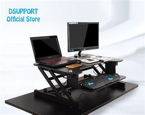 adjustable laptop stand for desk easyup height adjustable sit stand desk riser foldable