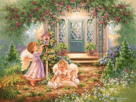 Angelic Gardens by Yorkshire Rose Images Garden Wallpaper Photos 30545347