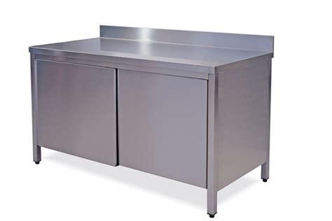tavolo armadiato tavoli inox armadiati con alzatina cm 100 200