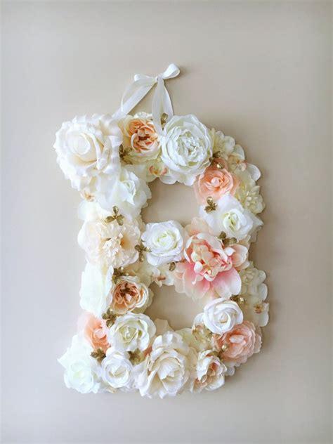 Custom Flower light ballet pink custom flower letter personalised