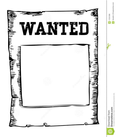 black and white wanted poster template wanted background stock vector image of painting