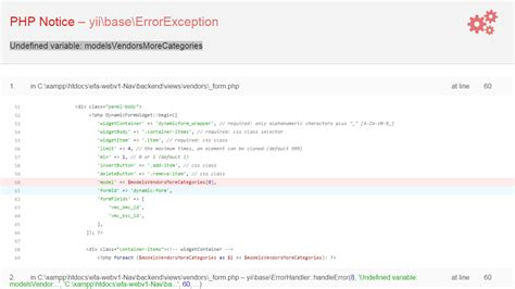 yii2 dynamic yii extensions undefined variable yii2 stack overflow