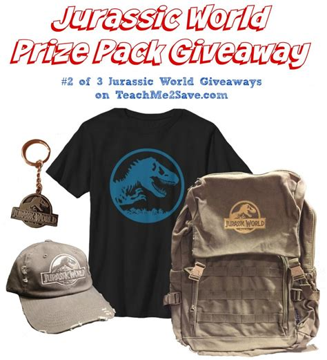 World Giveaways - jurassic world prize pack giveaway 2 of 3 funtastic life