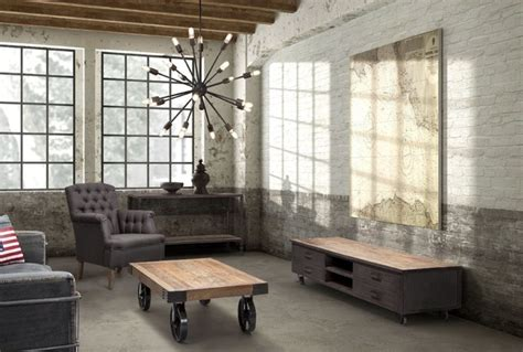 industrial living rooms industrial loft livingroom