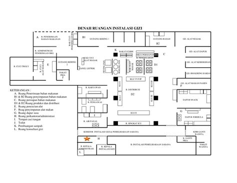 layout dapur rumah sakit tipe a denah dapur gizi dokumen tips