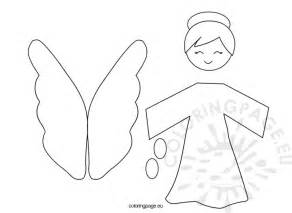 angel christmas tree coloring pages coloring pages
