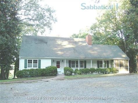 sabbaticalhomes home for rent chapel hill carolina