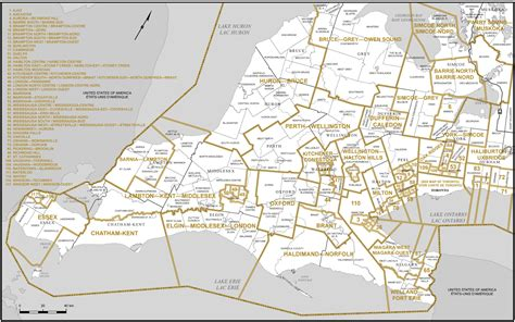 the of southern part two proposed boundaries ontario redistribution federal