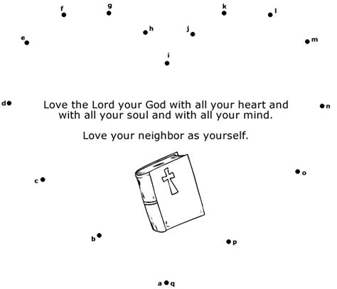 the greatest commandment dot to dot
