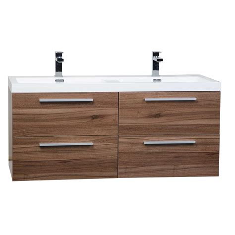 Modern Wall Mounted Bathroom Vanities Buy 47 Inch Wall Mounted Modern Bathroom Vanity In Walnut Tn T1200d Wn On Conceptbaths