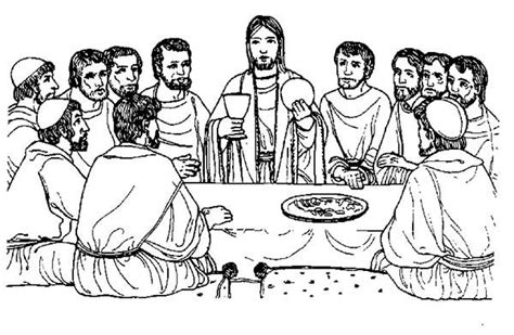 printable coloring page of the last supper google search