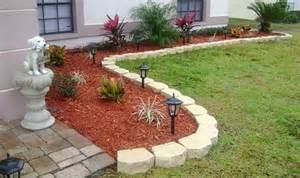 mulch flower bed design yard pinterest