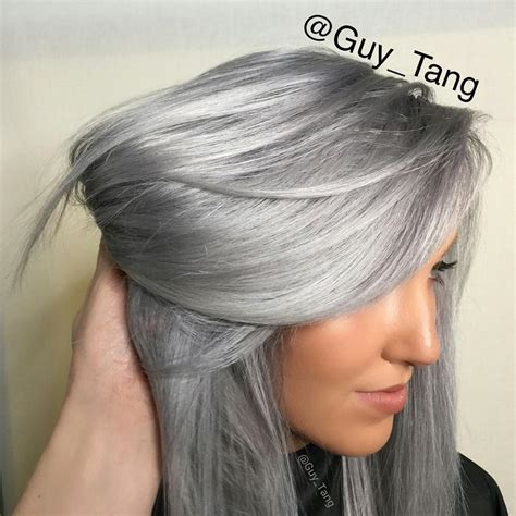 metallic hair color tang partners with kenra color see these exclusive