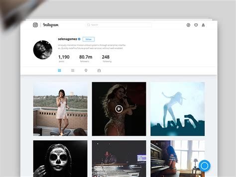 design united instagram best redesigns of famous websites 2016 edition