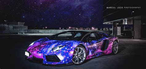 galaxy car paint galactic lamborghini aventador roadster autofluence